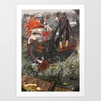 Doctor Foster went to Gloucester  Art Print