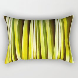 Yellow Ochre and Brown Stripy Lines Pattern Rectangular Pillow