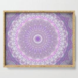 Lavender Purple Lace Mandala Serving Tray