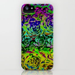 Psychedelic Flower Rows iPhone Case