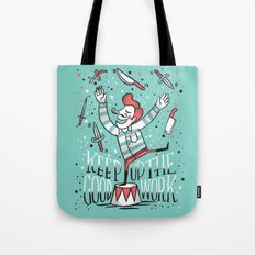 All up in the air Tote Bag