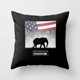 Vote This Way Throw Pillow