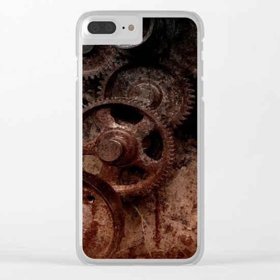Gear mechanism shady Clear iPhone Case