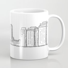 Halifax Ferry, black and white Coffee Mug