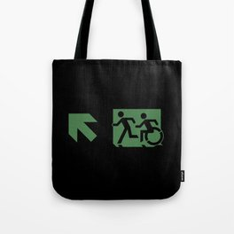 Wheelchair Disabled Exit Sign, with Accessible Means of Egress Icon Tote Bag