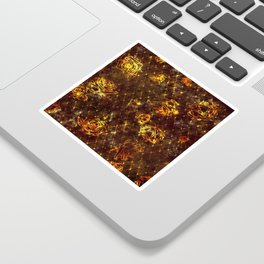 Diamond Rose Pattern - Maroon and Gold Sticker