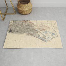 Vintage Map of Long Beach California (1923) Rug