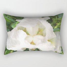 493 - White Iris Rectangular Pillow
