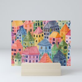 Summer City Mini Art Print