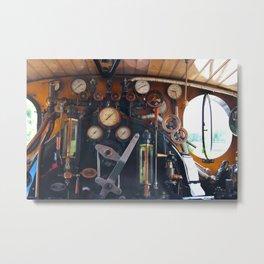 Steam locomotive Metal Print
