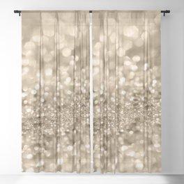 Champagne Gold Lady Glitter #2 #shiny #decor #art #society6 Sheer Curtain
