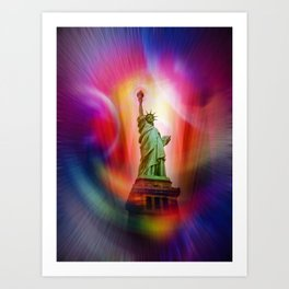 New York NYC - Statue of Liberty 2 Art Print