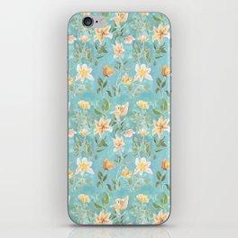 Mint Botanical Pattern iPhone Skin