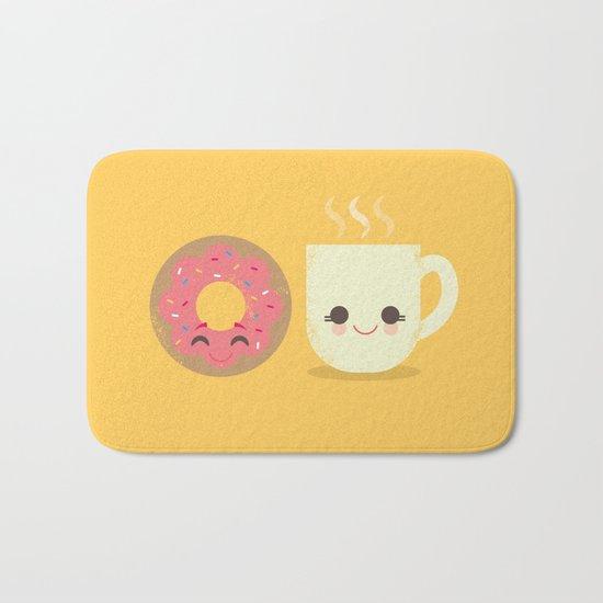 Coffee and Donut Buds Bath Mat
