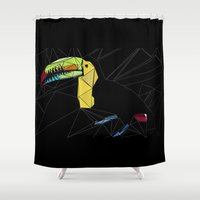 toucan Shower Curtains featuring TOUCAN by ARCHIGRAF