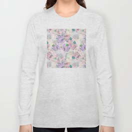 Pastel Purple and blue Lilac & Hydrangea - Flower Design Long Sleeve T-shirt
