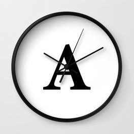 Letter A Initial Wall Clock