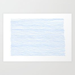 Blue mirage - a handmade pattern Art Print