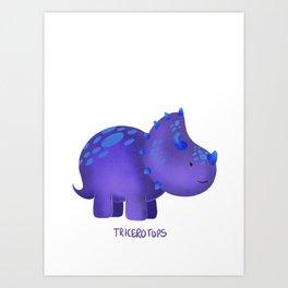 Tricerotops Art Print