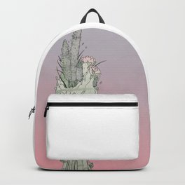 Floral watercolored smudge roll Backpack