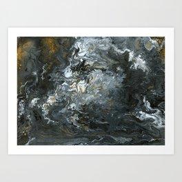 Rustic Fluidity Art Print