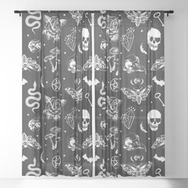 Witchcraft B&W Sheer Curtain