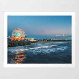 Wheel of Fortune - Santa Monica, California Art Print