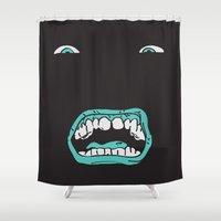 arnold Shower Curtains featuring Arnold (Darkness) by ivanecky