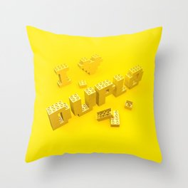 I Love Duplo Throw Pillow