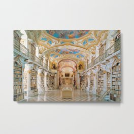 The Magnificent Admont Abbey Library of Admont, Austria Photograph Metal Print