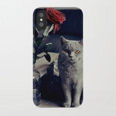 Diesel with rose iPhone X Slim Case