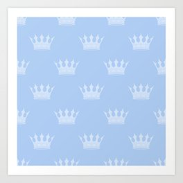Louis Blue Crowns- Prince of Cambridge Art Print