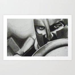 King Leonidas (300) Art Print