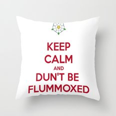 Keep Calm and Dun't Be Flummoxed Throw Pillow