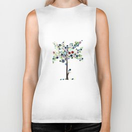 Tree of Life Love Birds Biker Tank