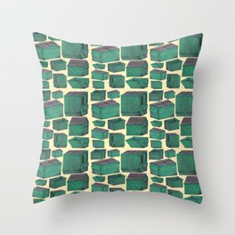 Dumpster Collage Throw Pillow