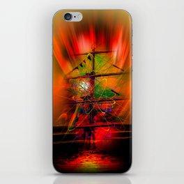 Sailing romance iPhone Skin