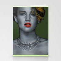 jennifer lawrence Stationery Cards featuring Jennifer Lawrence by Marv Castillo