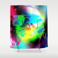 ying yang Shower Curtains featuring Ying-Yang by Tank Franklin