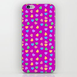 Happy Valentine's Day Candy Hearts pattern iPhone Skin