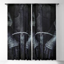 Old silver armor Blackout Curtain