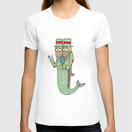 Portrait of a two headed merman T-shirt