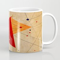 jazzberry Mugs featuring knot by .eg.