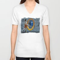 aperture V-neck T-shirts featuring In Need of a Companion by Miss-Lys