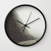 drive Wall Clocks featuring Drive by Kristine Ridley Weilert