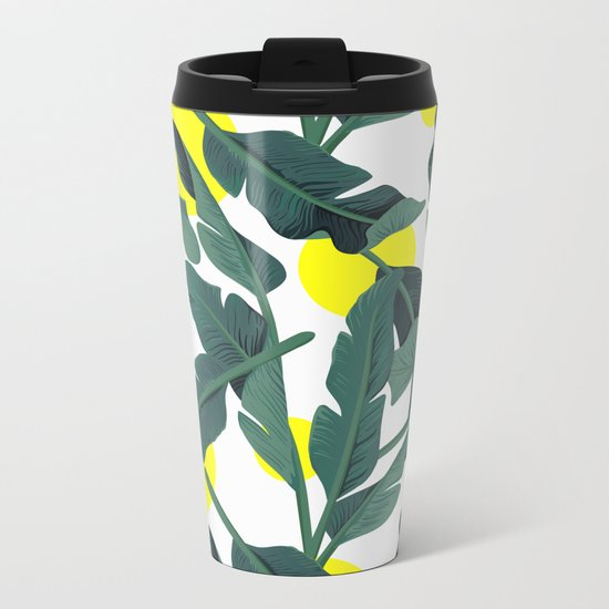 Tropical '17 - Fresh [Banana Leaves] Metal Travel Mug