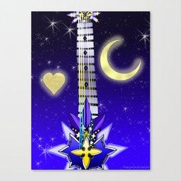 Fusion Keyblade Guitar #106 - Saix's Claymore & Star Seeker Canvas Print