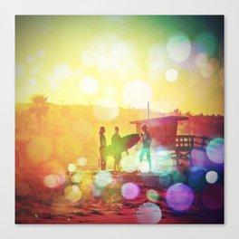 Old School Dawn Patrol Surf Canvas Print
