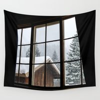 cabin Wall Tapestries featuring Cabin by JacDodge