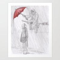 burdge Art Prints featuring Rainy Monday by Burdge